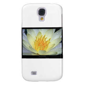 Flower 061 White Water Lily Galaxy S4 Cases