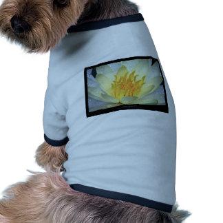 Flower 061 White Water Lily Ringer Dog Shirt