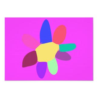 Flower 13 Cm X 18 Cm Invitation Card