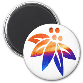 Flower 20 6 cm round magnet