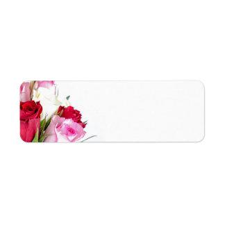 flower-316621 flower flowers rose love red pink ro return address label
