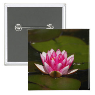 Flower  4 15 cm square badge