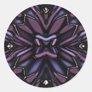 flower 7 classic round sticker