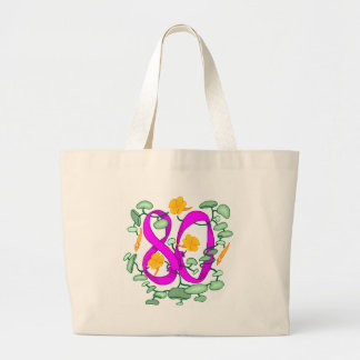 Flower 80th Birthday Gifts Large Tote Bag