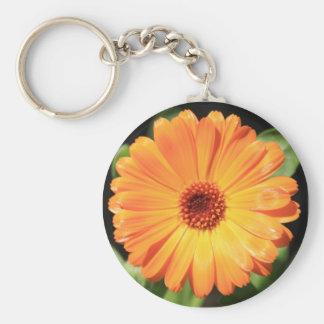 Flower - A Burst of Orange - Keychain