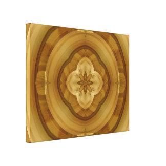 flower abstract circle wood pattern stretched canvas prints