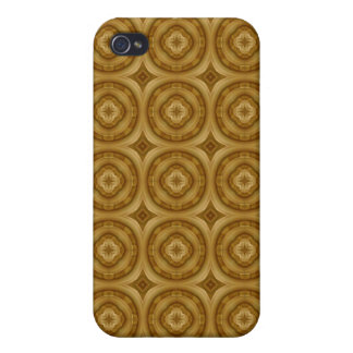 flower abstract circle wood pern iPhone 4 case