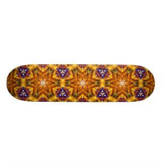 flower abstract design pattern yoga blue gold zen skate board decks