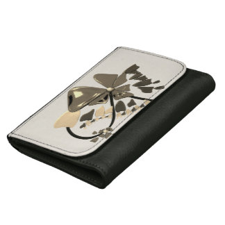 flower abstract design wallet for women