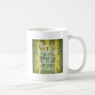 Flower Abstract Sunshine in my Soul Basic White Mug