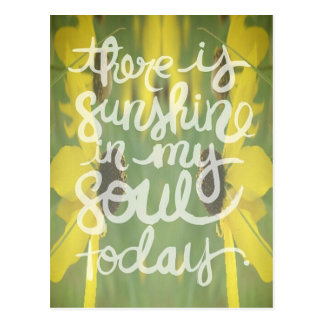 Flower Abstract Sunshine in my Soul Postcard