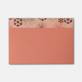Flower Adornments Peach Color Post-it Notes