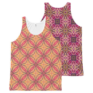 Flower All-Over Print Tank Top