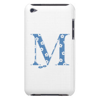 flower alphabet M (blue and dots) Barely There iPod Covers