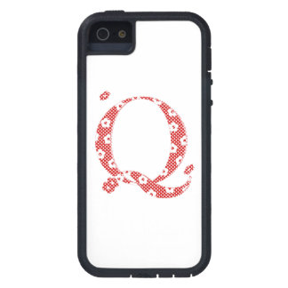 flower alphabet Q (red and dots) iPhone 5 Covers