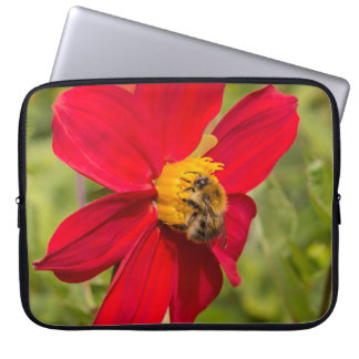 flower and bee laptop computer sleeves