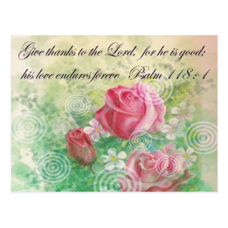 """Flower and Bible verse """"Rose"""" Postcard"""