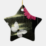 Flower and Butterflies Christmas Ornaments