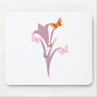 Flower and Butterflies Mouse Pads