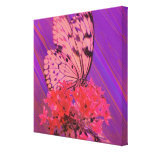 Flower and Butterfly in Pink and Purple Canvas Prints