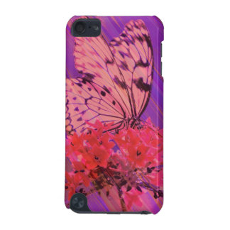 Flower and Butterfly in Pink and Purple iPod Touch 5G Cover