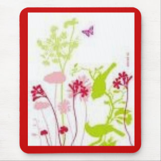 Flower and Butterfly Mouse Pads