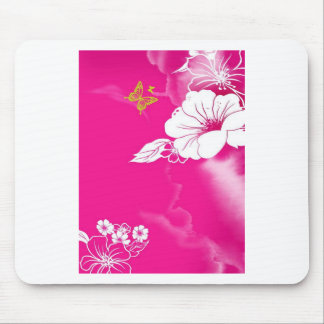 Flower and Butterfly Mousepads