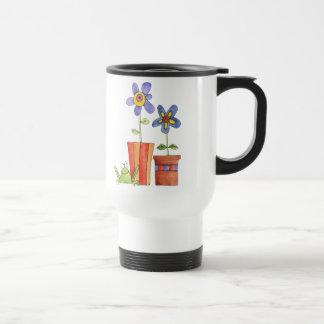Flower and Frog travel mug