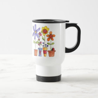Flower and Frog travel mug