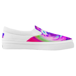 Flower and Fucsia♥ Slip On Shoes