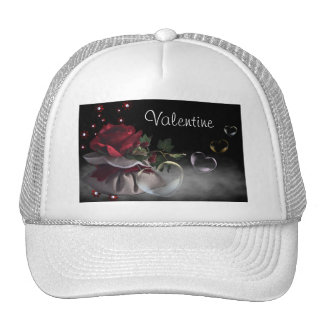 Flower and Hearts  Hat