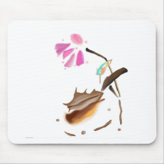 Flower and hummingbird image jpg mouse pad
