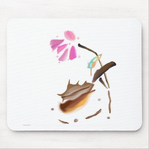 Flower and hummingbird image.jpg mouse pad