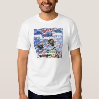 Flower and invitation cat and pendant t shirts