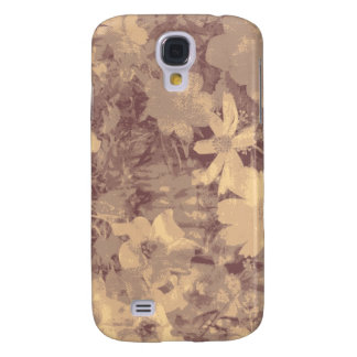 Flower and leaf camouflage pattern on beige galaxy s4 case
