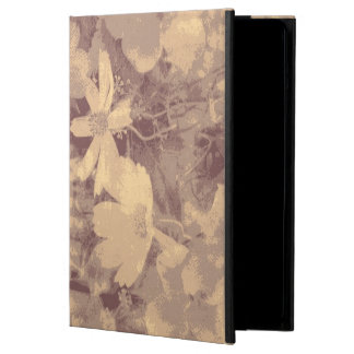 Flower and leaf camouflage pattern on beige iPad air case