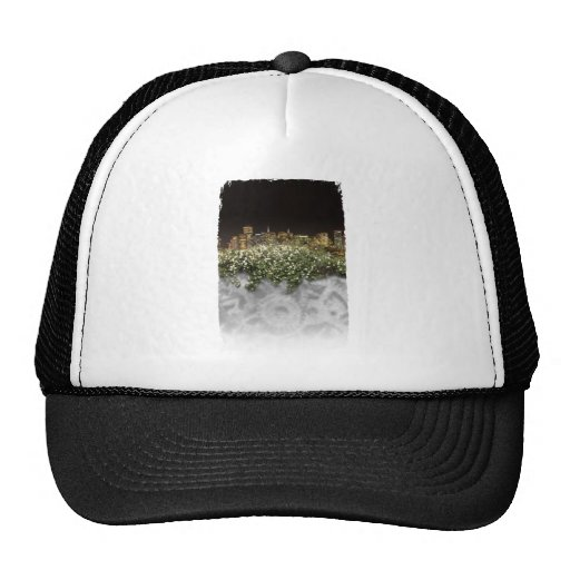 Flower and night view mesh hats