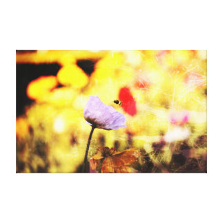 flower and the bee stretched canvas prints