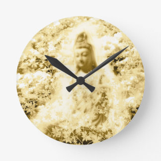 Flower and the Merciful Goddess 菩 薩 with Ise shrin Wallclock