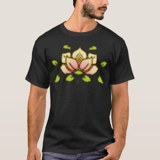 Flower And Vine Motif T-Shirt