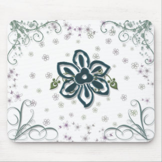 flower and vines mouse mat