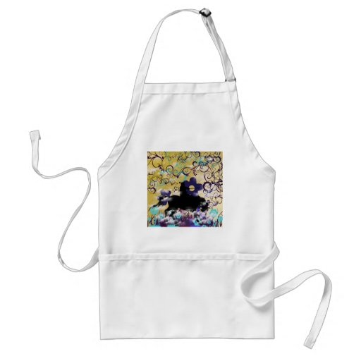 Flower and warrior aprons