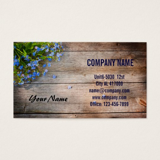 Flower and Wood Business Card