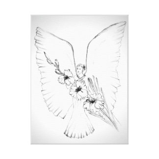 Flower Angel Canvas