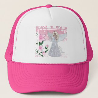 Flower Angel Design Trucker Hat