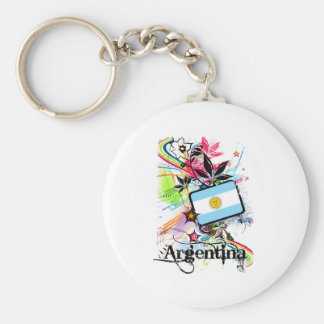 Flower Argentina Key Ring