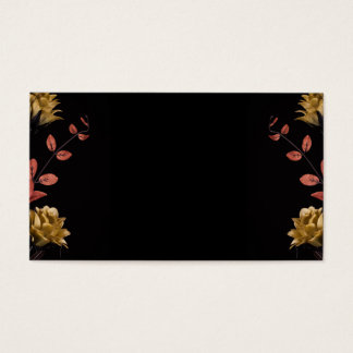 Flower arrangement with warm dark tones on black