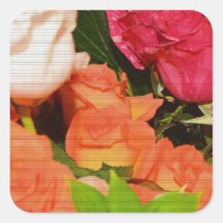 Flower Arrangements Wedding Party Colorful Destiny Stickers