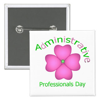Flower Art Administrative Professionals Day 15 Cm Square Badge