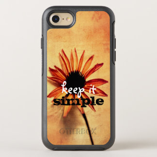 flower art keep it simple quote shabby chic OtterBox symmetry iPhone 8/7 case
